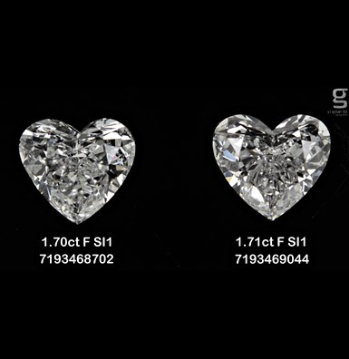1.7CT Paired Heart Shaped