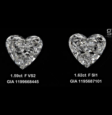 1.6CT Paired Heart Shaped
