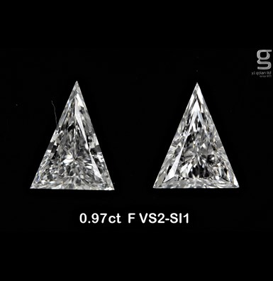 0.97 Paired Arrow Diamonds