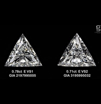 Tri paired diamonds - 0.7 CT