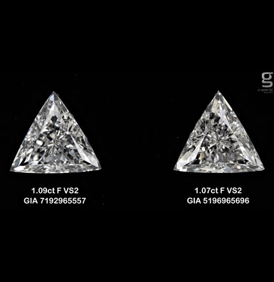 Triangle paired - 1.07CT
