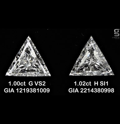 1CT Triangle pair diamonds