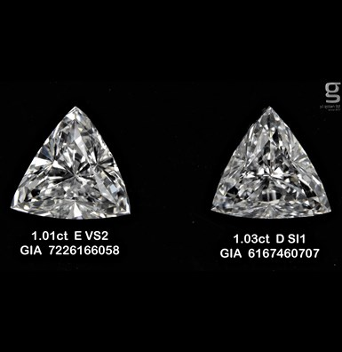 Triangle Paired GIA Diamonds