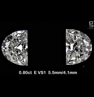Half Moon Diamonds - 0.8CT