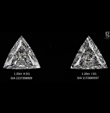 1.2CT GIA TRI Diamond Pair