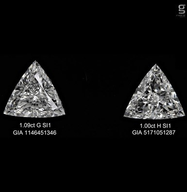 GIA Tri Diamond Pair