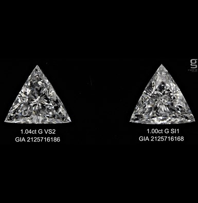 1ct Magnificent Triangle Diamonds