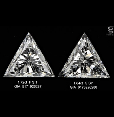 Triangle Shaped Diamond Pair