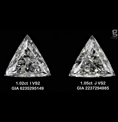 1ct VS2 Tri Diamond Pair