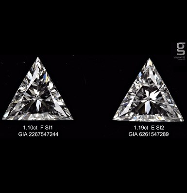GIA Triangle Lovely Pair