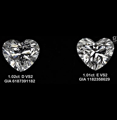 1ct Heart Shaped Diamonds