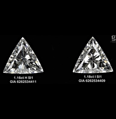 Unique Triangle Diamond Pair