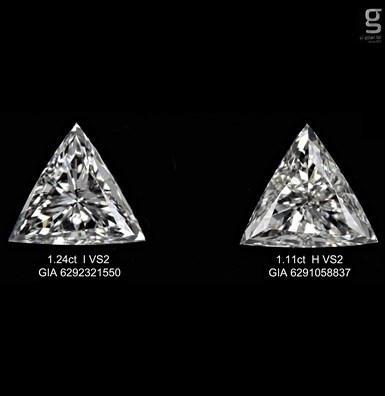 GIA Diamond Pair