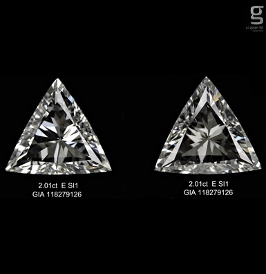 Triangle 2ct Diamond Pair